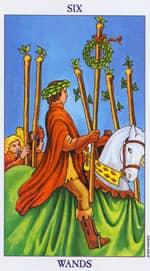 6 de Bastos Tarot de María Rituales