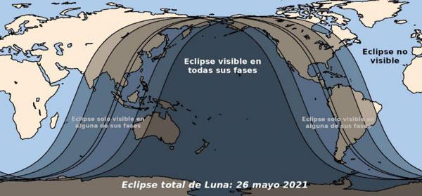 Eclipse Total de Luna dónde se podrá ver